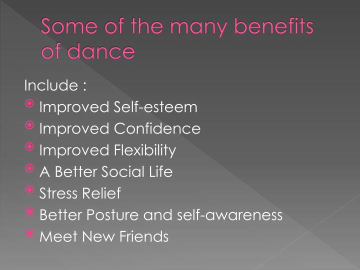Some of the many benefits of dance