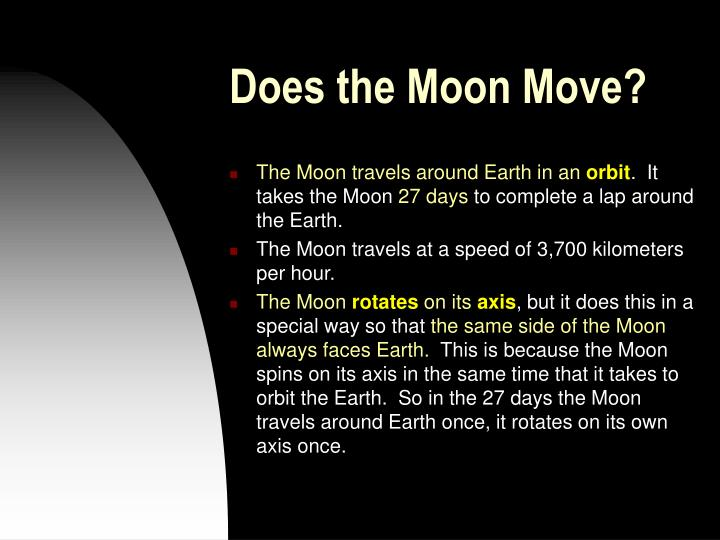 Does the Moon Move?