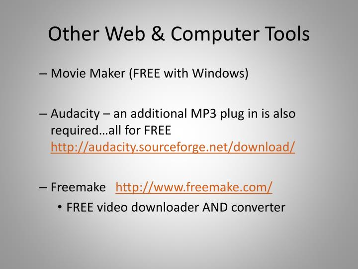 Other Web & Computer Tools