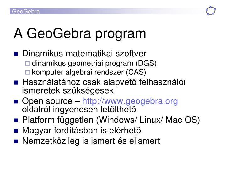 A GeoGebra program