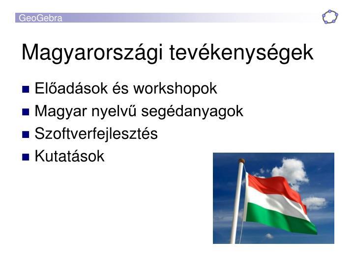 Magyarországi tevékenységek