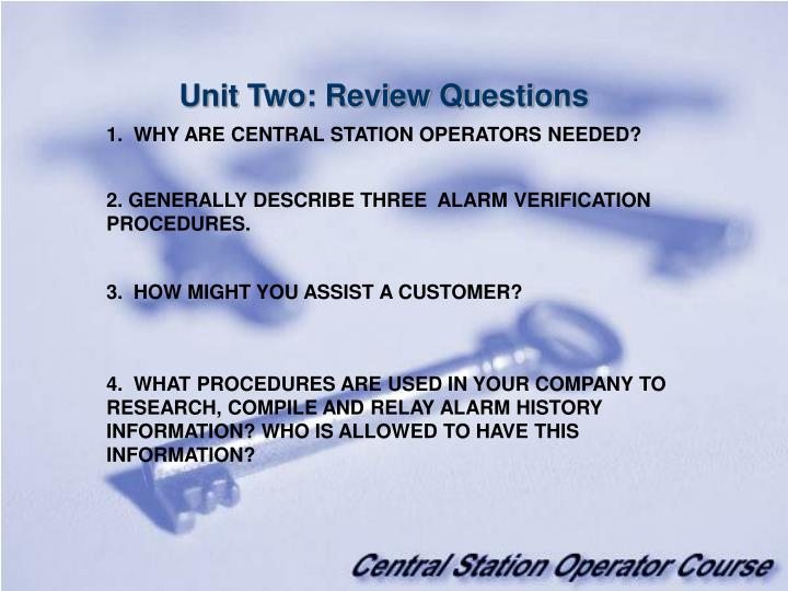 Unit Two: Review Questions