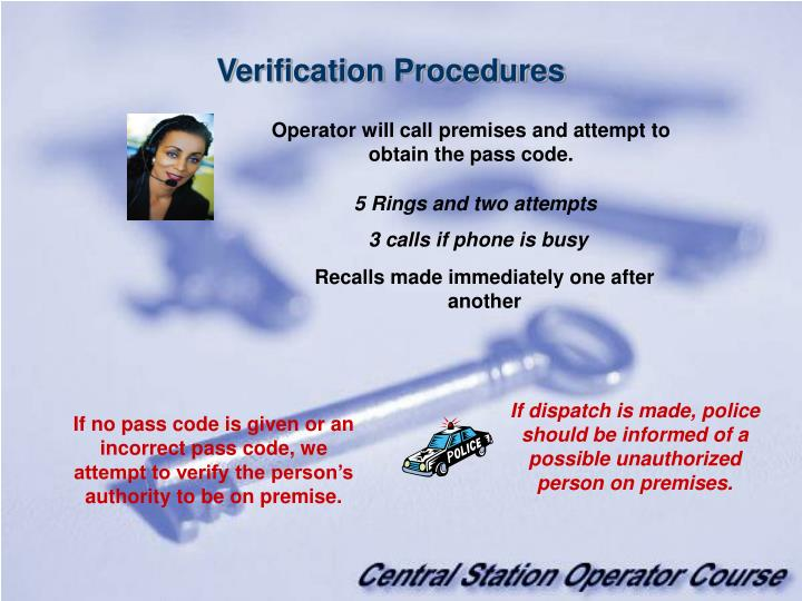 Verification Procedures