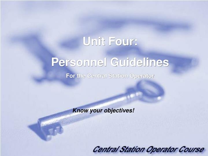 Unit Four:
