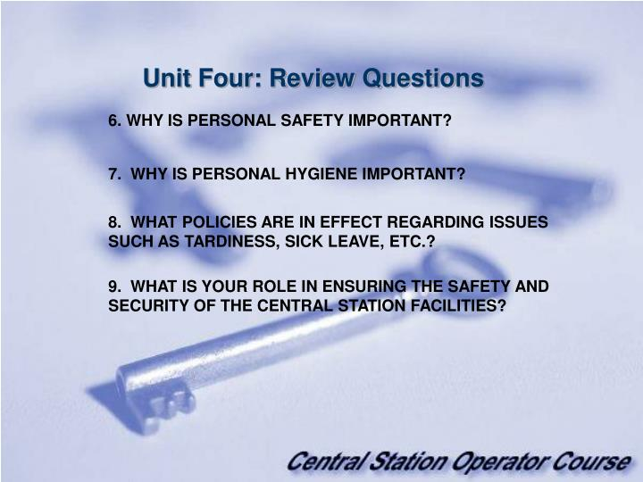 Unit Four: Review Questions