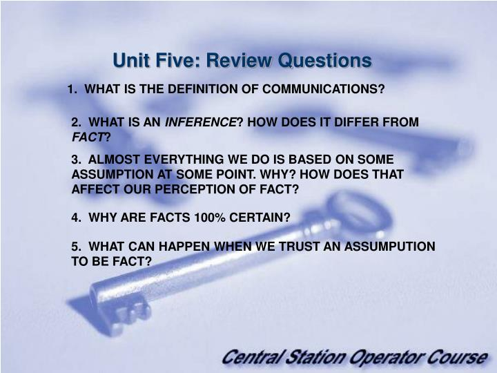 Unit Five: Review Questions
