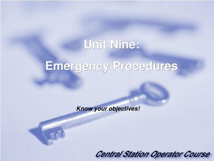 Unit Nine: