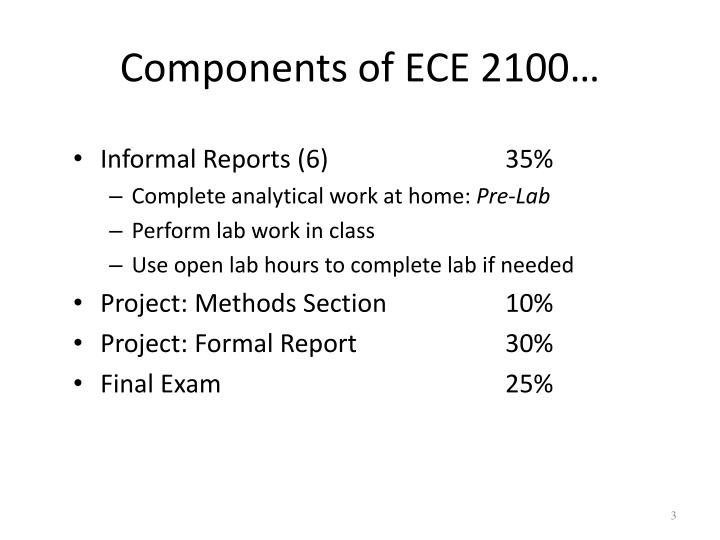 Components of ECE 2100…