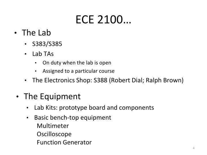 ECE 2100…