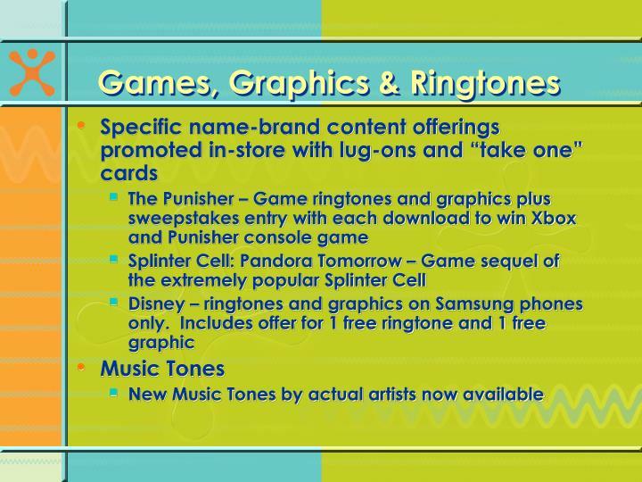 Games, Graphics & Ringtones