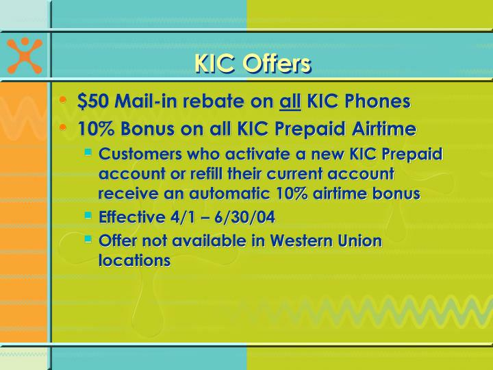KIC Offers