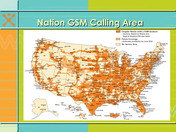 Nation GSM Calling Area