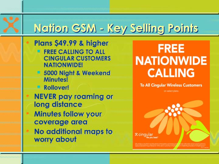 Nation GSM - Key Selling Points