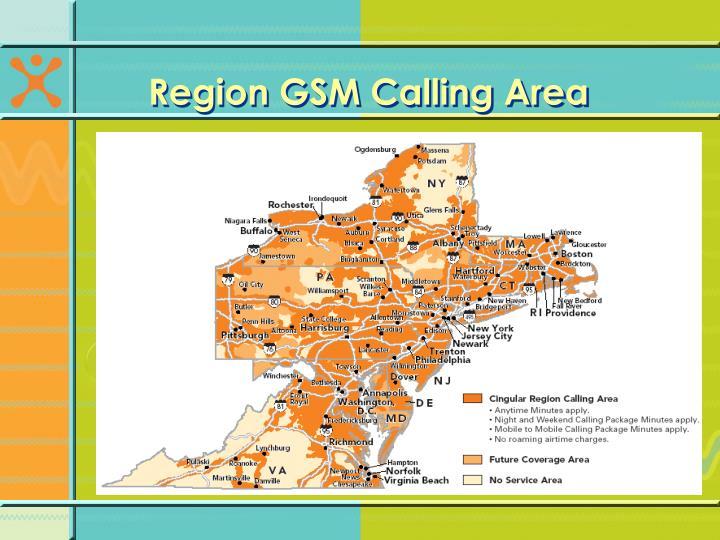 Region GSM Calling Area