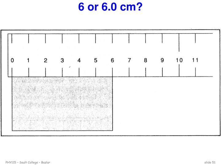 6 or 6.0 cm?