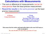 calculations with measurements1
