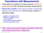 calculations with measurements2
