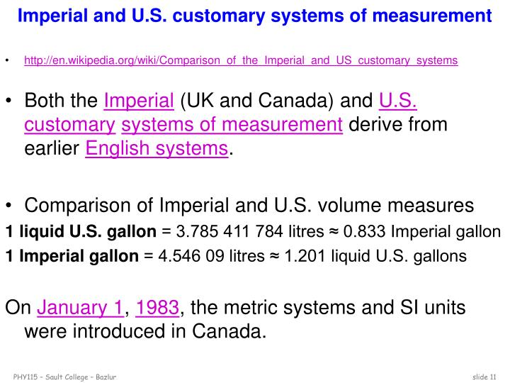 Imperial and U.S. customary systems of measurement