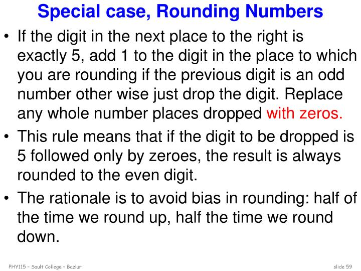 Special case, Rounding Numbers