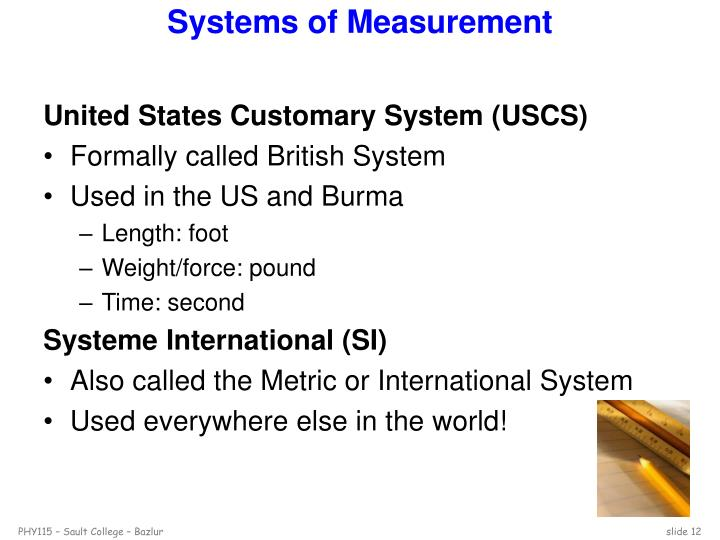 Systems of Measurement