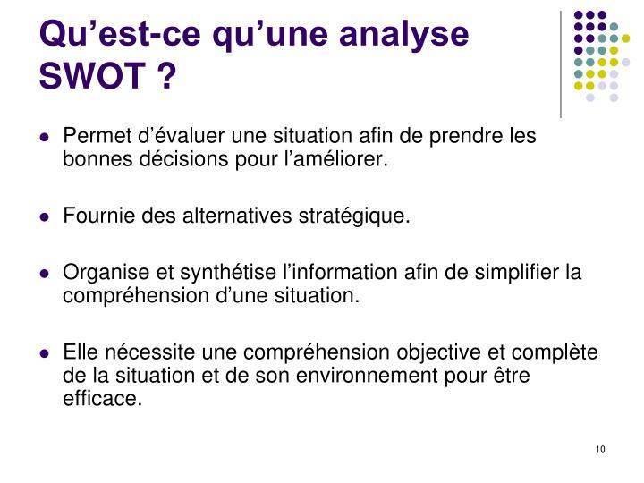 Qu'est-ce qu'une analyse SWOT ?