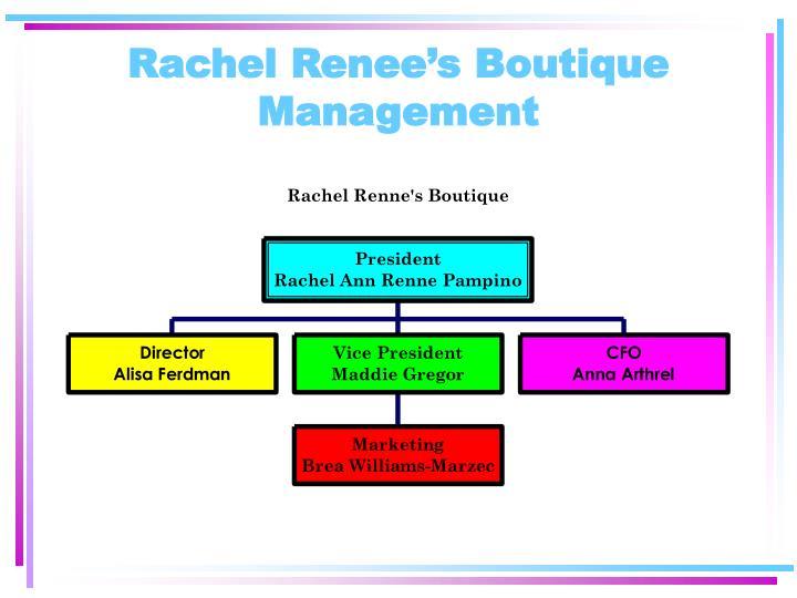 Rachel Renee's Boutique Management