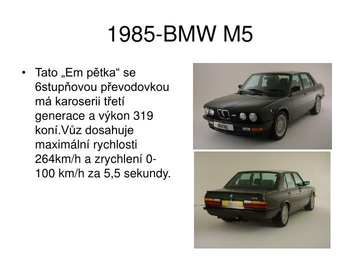 1985-BMW M5