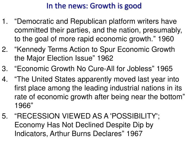 In the news: Growth is good