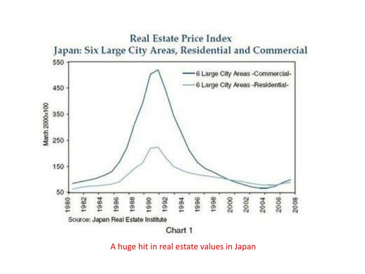 A huge hit in real estate values in Japan