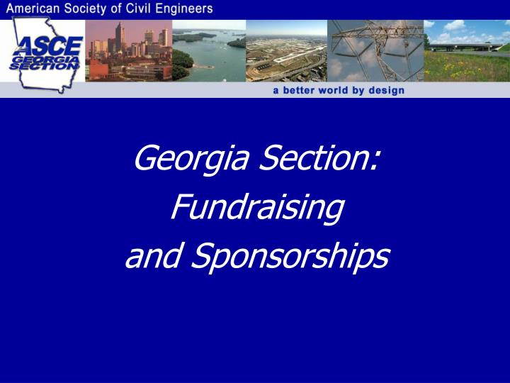 georgia section fundraising and sponsorships