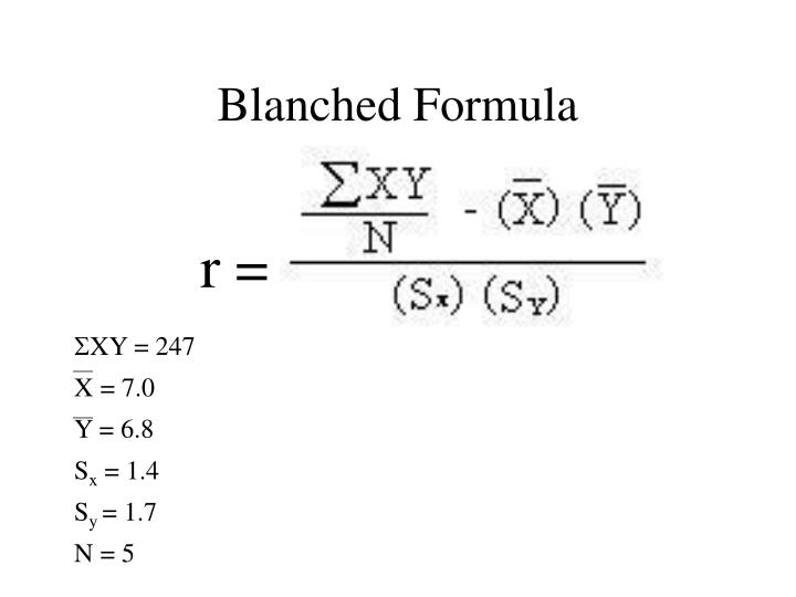 Blanched Formula