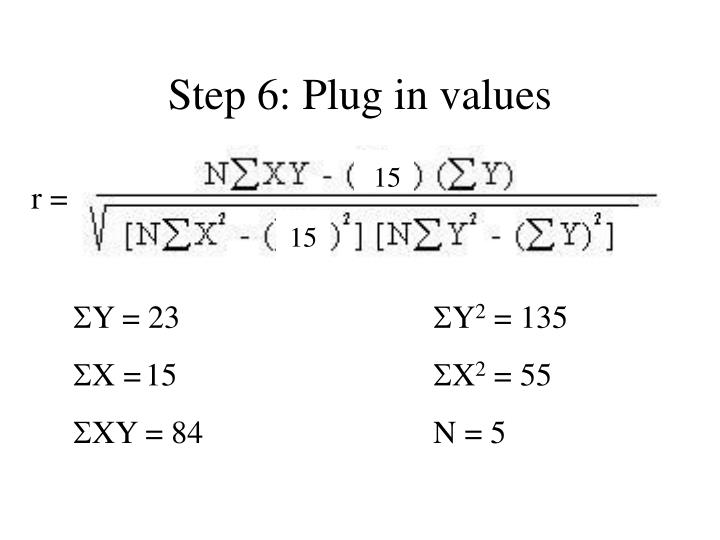 Step 6: Plug in values