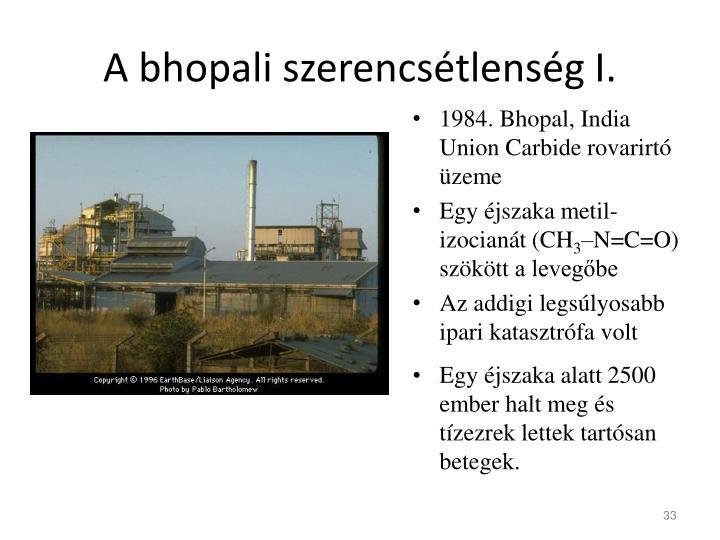 A bhopali szerencsétlenség I.