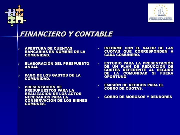 APERTURA DE CUENTAS BANCARIAS EN NOMBRE DE LA COMUNIDAD.