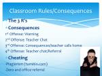 classroom rules consequences