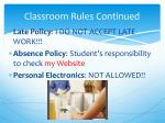 classroom rules continued