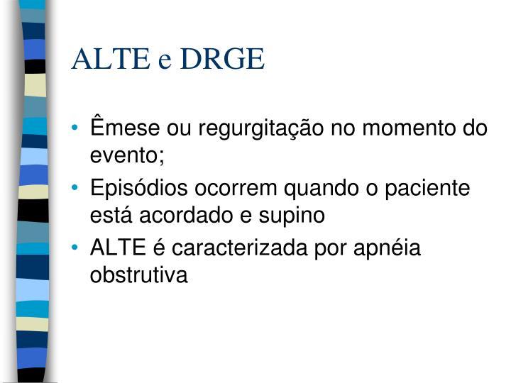 ALTE e DRGE