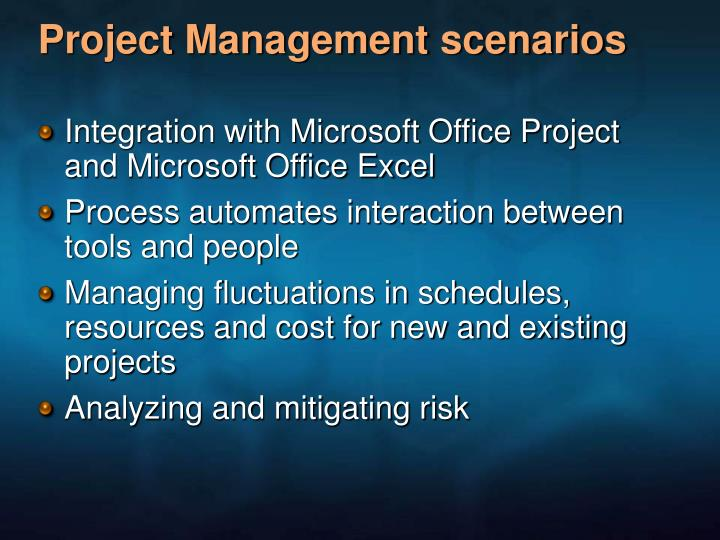 Project Management scenarios