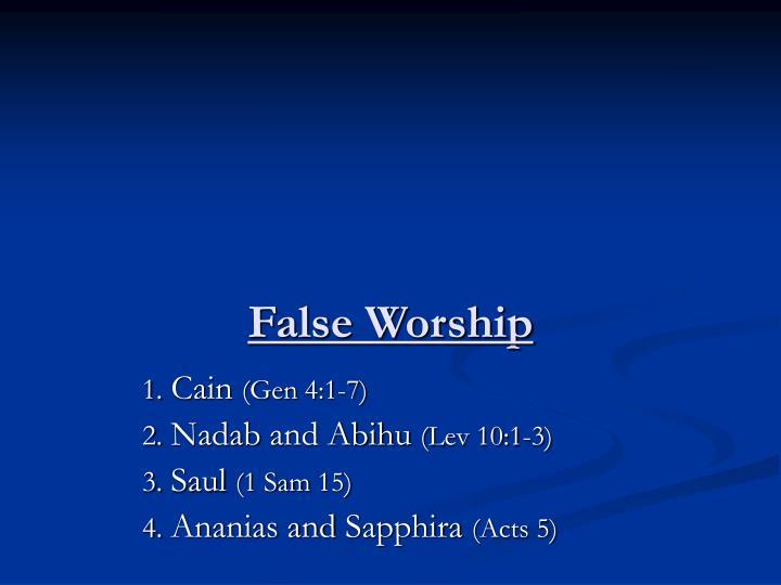 False Worship