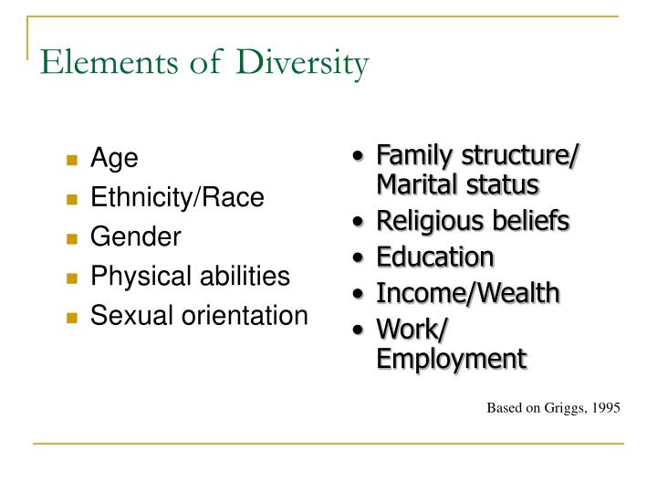 Elements of Diversity