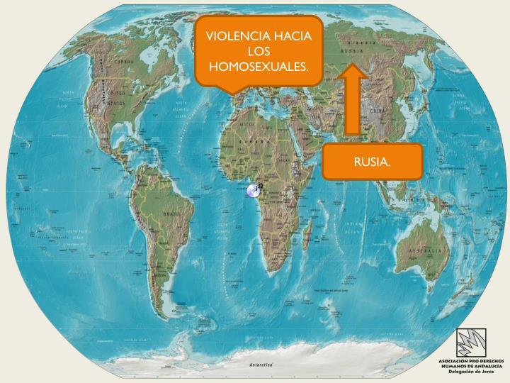 VIOLENCIA HACIA LOS HOMOSEXUALES.