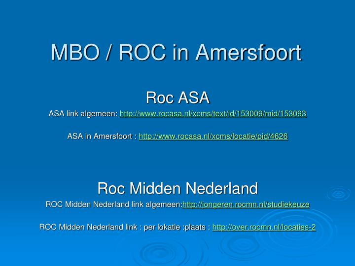 MBO / ROC in Amersfoort