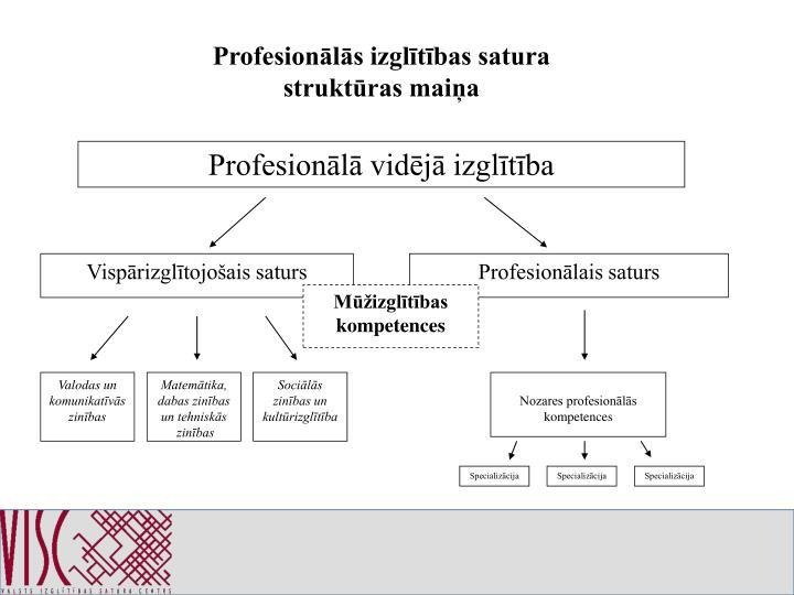 Profesionālās izglītības satura