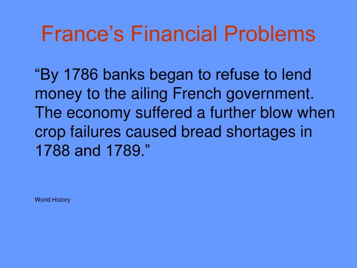 France's Financial Problems