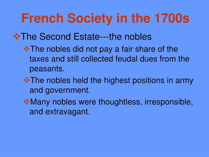 French Society in the 1700s