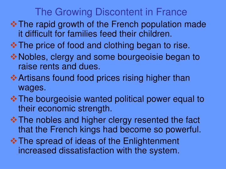 The Growing Discontent in France