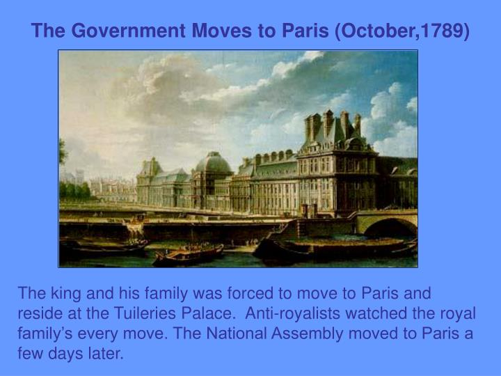 The Government Moves to Paris (October,1789)