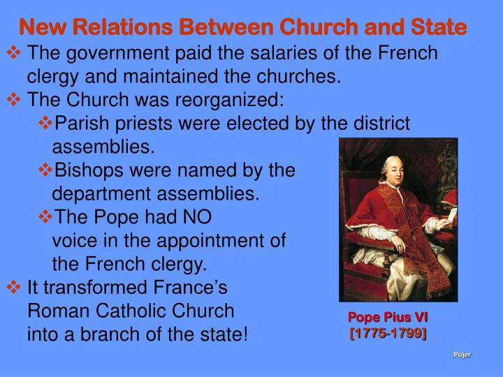 New Relations Between Church and State
