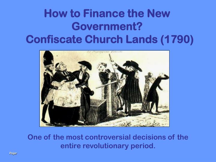 How to Finance the New Government?