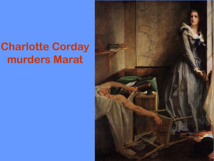 Charlotte Corday murders Marat